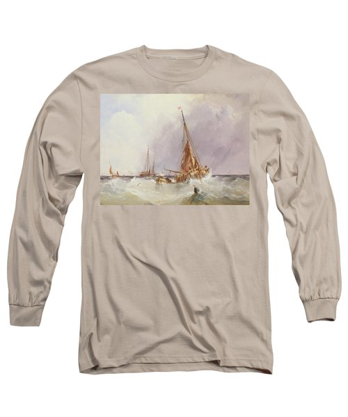 Shipping In The Solent 19th Century Long Sleeve T-Shirt