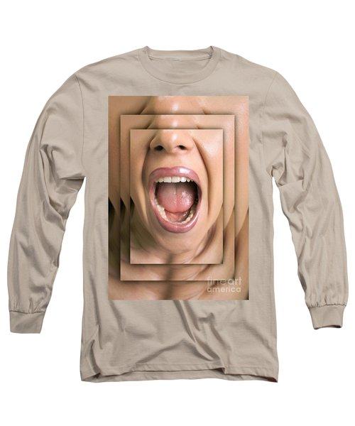 Shouting Woman Long Sleeve T-Shirt
