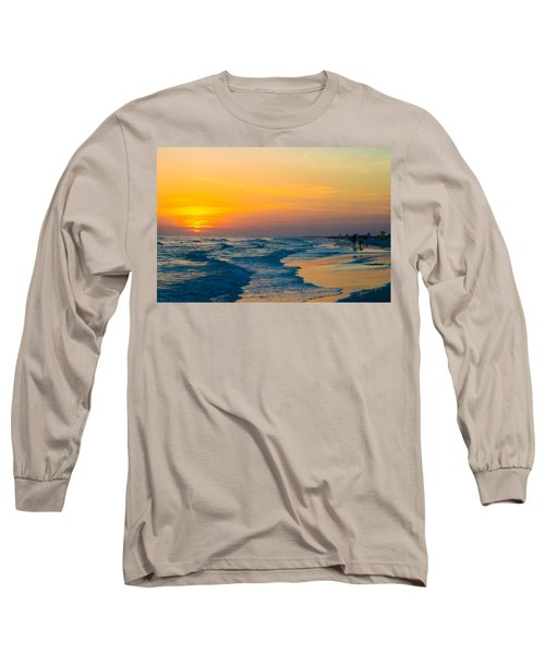 Siesta Key Sunset Walk Long Sleeve T-Shirt