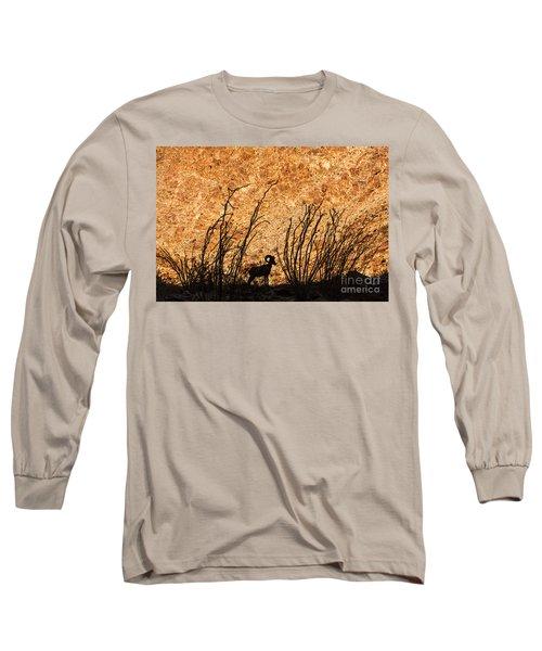 Silhouette Bighorn Sheep Long Sleeve T-Shirt