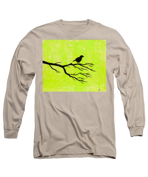 Silhouette Green Long Sleeve T-Shirt by Stefanie Forck