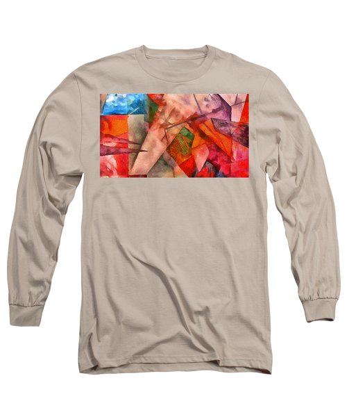 Long Sleeve T-Shirt featuring the digital art Silky Abstract by Catherine Lott