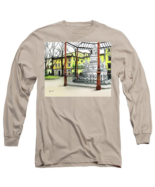 Long Sleeve T-Shirt featuring the painting Silla Hotel Piazza Demidoff Florence by Albert Puskaric