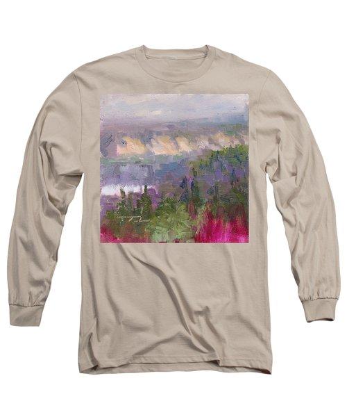 Silver And Gold - Matanuska Canyon Cliffs River Fireweed Long Sleeve T-Shirt