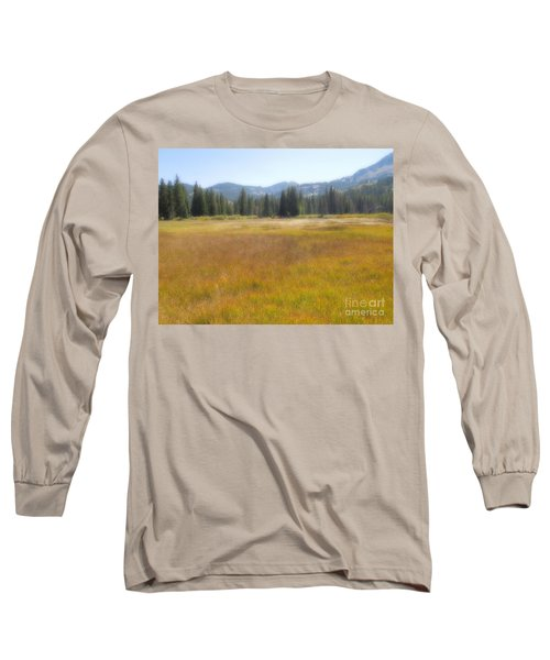 Long Sleeve T-Shirt featuring the photograph Silver Lake Area Big Cottonwood Canyon Utah by Richard W Linford