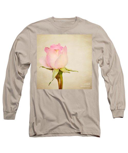 Single Baby Pink Rose Long Sleeve T-Shirt