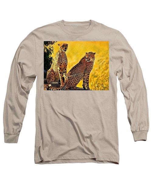 Sister Cheetahs Long Sleeve T-Shirt