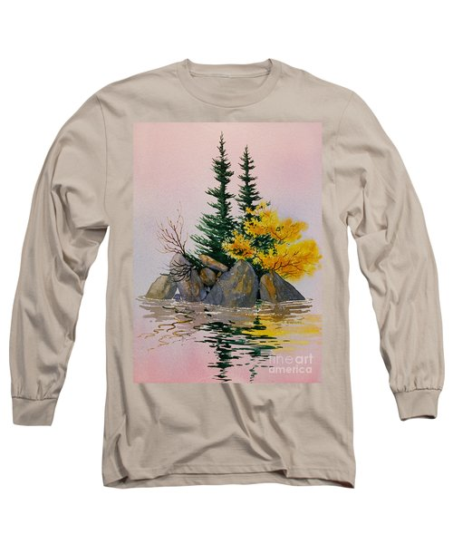 Long Sleeve T-Shirt featuring the painting Sitka Isle by Teresa Ascone