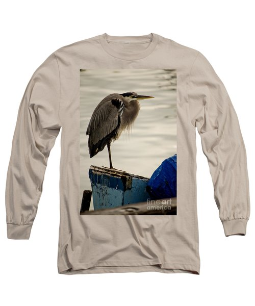 Sittin' On The Dock Of The Bay Long Sleeve T-Shirt by Donna Greene