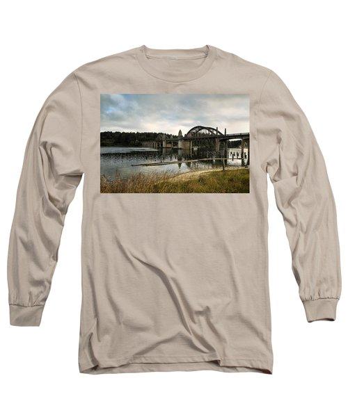 Long Sleeve T-Shirt featuring the photograph Siuslaw River Bridge by Belinda Greb