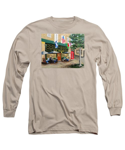 Six Pence Pub Long Sleeve T-Shirt by Marilyn Zalatan