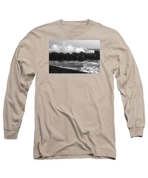 Long Sleeve T-Shirt featuring the photograph Skagen Waves by Randi Grace Nilsberg