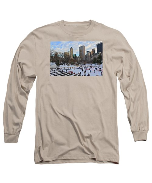 Skating In Central Park Long Sleeve T-Shirt