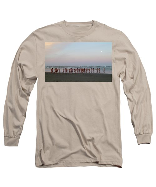 Skinny Dipping Down A Moon Beam Long Sleeve T-Shirt by Steve Taylor