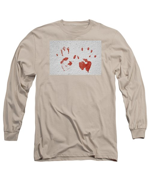 Long Sleeve T-Shirt featuring the photograph Skc 1058 Palm Impressions by Sunil Kapadia