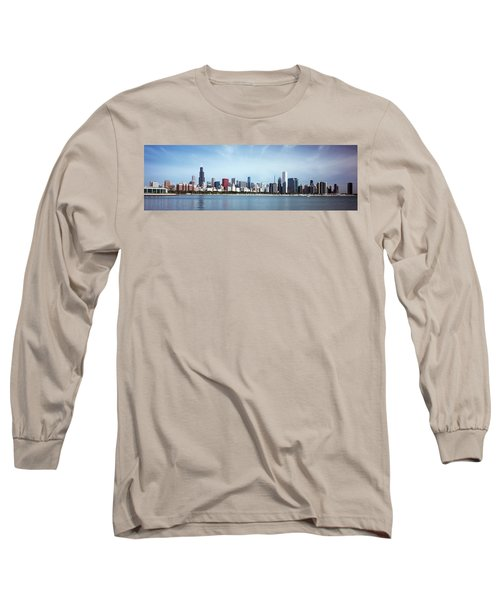 Skyscrapers At The Waterfront, Lake Long Sleeve T-Shirt