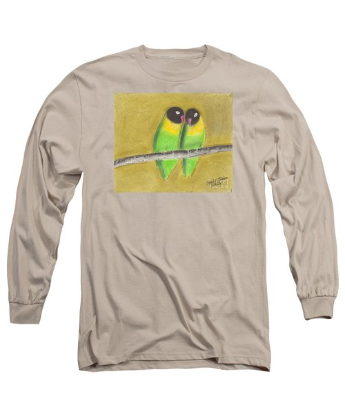 Sleeping Love Birds Long Sleeve T-Shirt by David Jackson