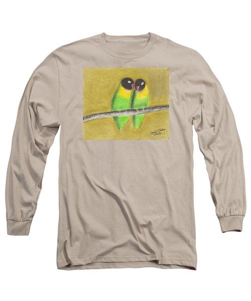 Sleeping Love Birds Long Sleeve T-Shirt