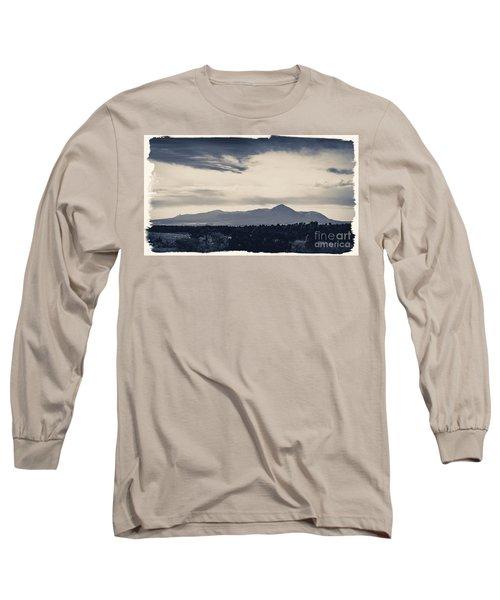 Sleeping Ute Mountain Long Sleeve T-Shirt by Janice Rae Pariza