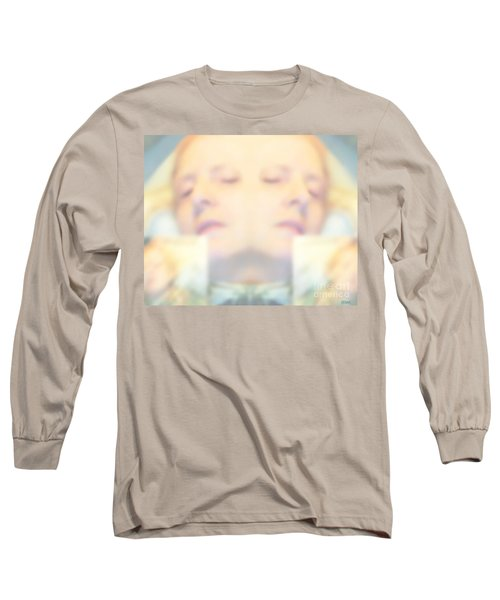 Long Sleeve T-Shirt featuring the photograph Sleeping Woman Drifting In Dreams by Marian Cates