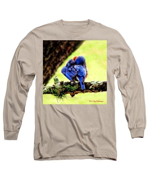 Sleepy Bluebird Long Sleeve T-Shirt