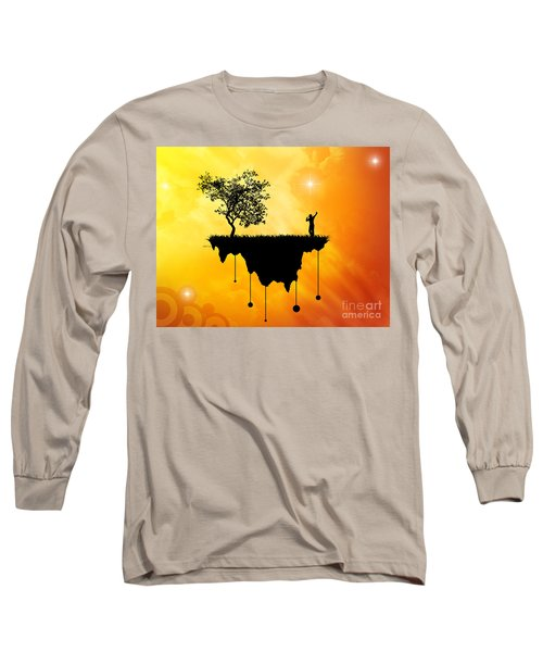 Long Sleeve T-Shirt featuring the digital art Slice Of Earth by Phil Perkins