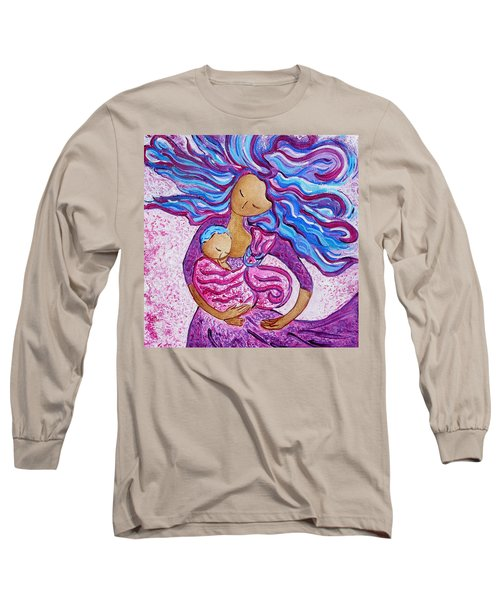 Sling Dance Motherhood Babywearing Dance Artwork Long Sleeve T-Shirt
