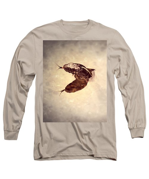 Long Sleeve T-Shirt featuring the photograph Slithering Reflections by Melanie Lankford Photography