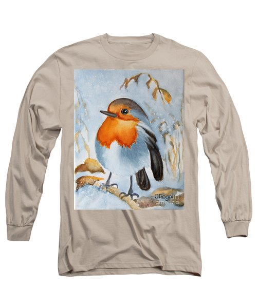 Long Sleeve T-Shirt featuring the painting Small Bird by Inese Poga