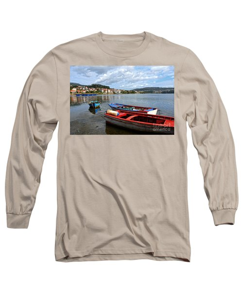 Small Boats In Galicia Long Sleeve T-Shirt