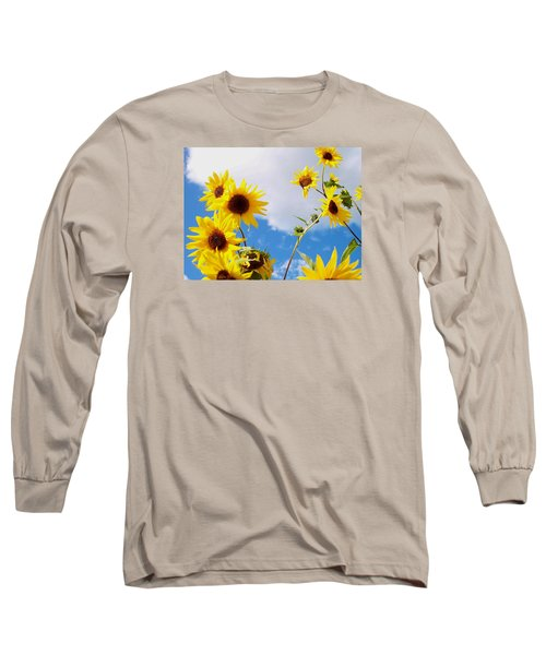 Long Sleeve T-Shirt featuring the photograph Smile Down On Me by Mary Wolf