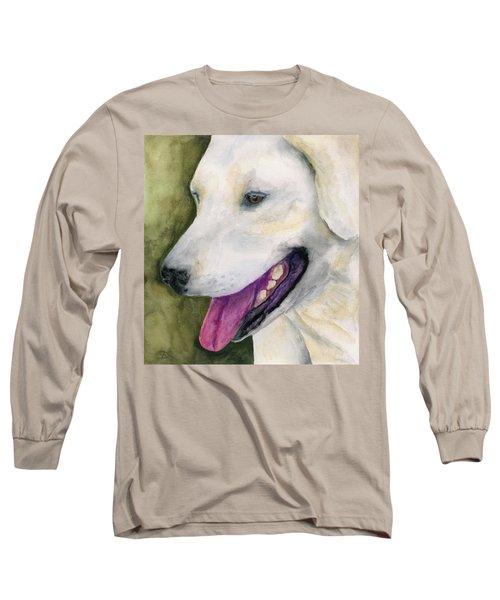Long Sleeve T-Shirt featuring the painting Smiling Lab by Stephen Anderson