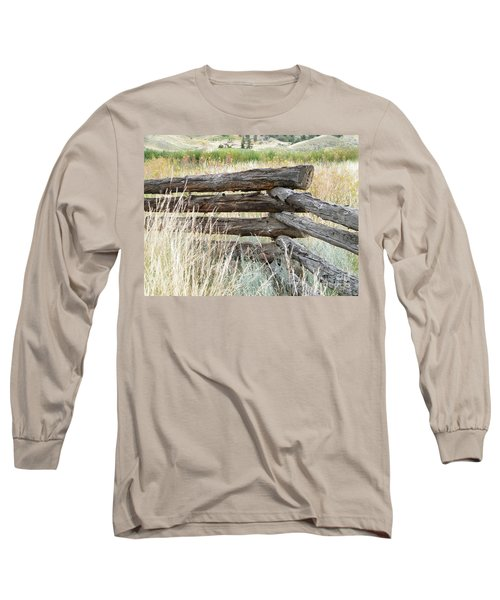 Long Sleeve T-Shirt featuring the photograph Snake Fence And Sage Brush by Ann E Robson
