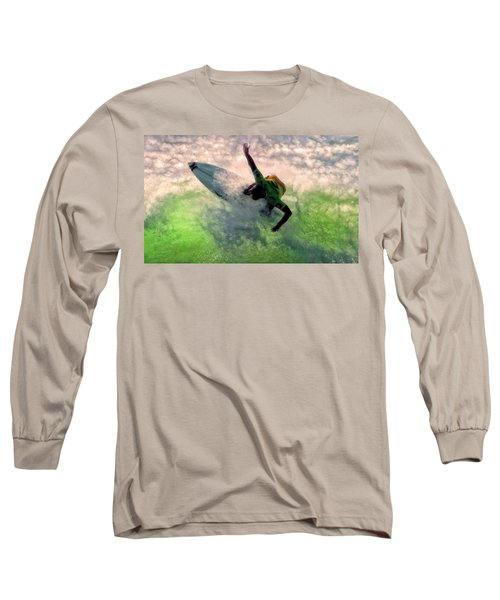 Long Sleeve T-Shirt featuring the painting Snap Turn by Michael Pickett