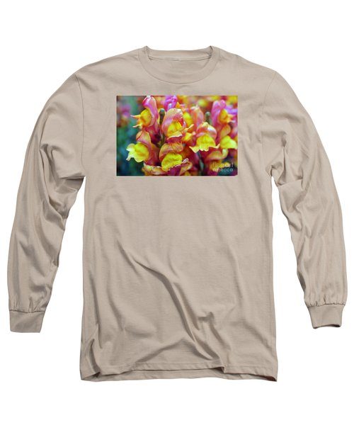 Long Sleeve T-Shirt featuring the photograph Snapdragons by Cassandra Buckley