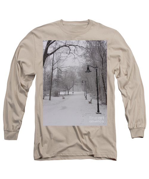 Snow At Bulls Island - 29 Long Sleeve T-Shirt