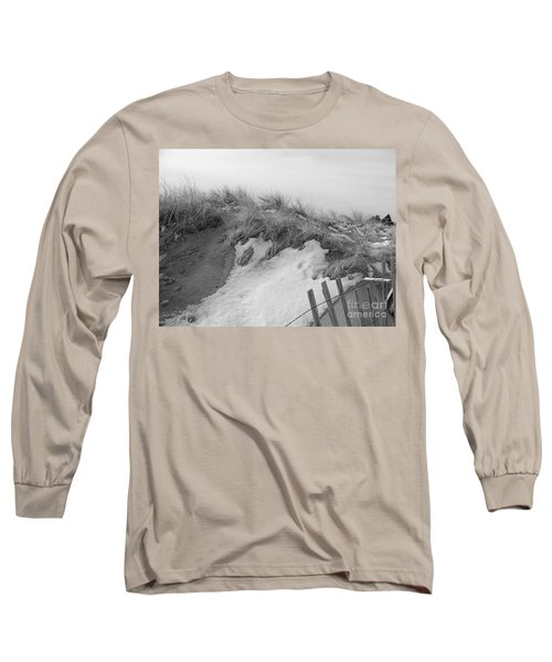Long Sleeve T-Shirt featuring the photograph Snow Covered Sand Dunes by Eunice Miller