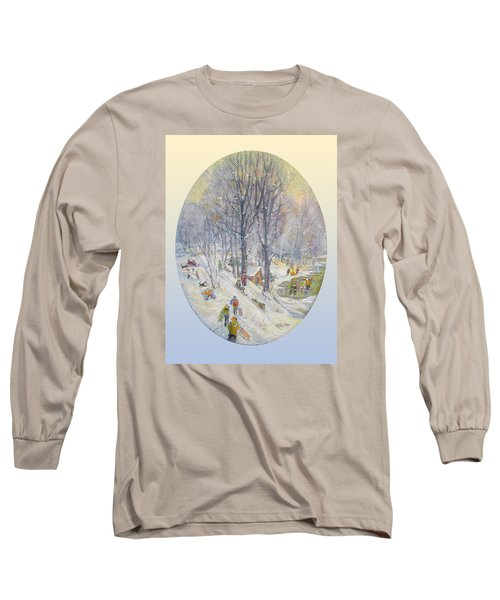 Long Sleeve T-Shirt featuring the painting Snow Day by Donna Tucker