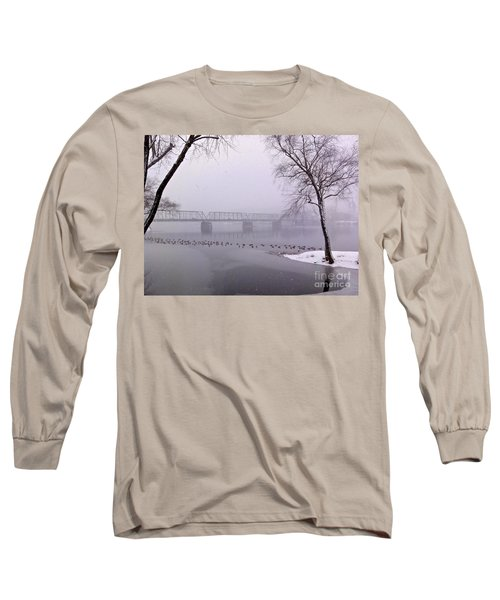Snow From Lewis Island Bridge Long Sleeve T-Shirt