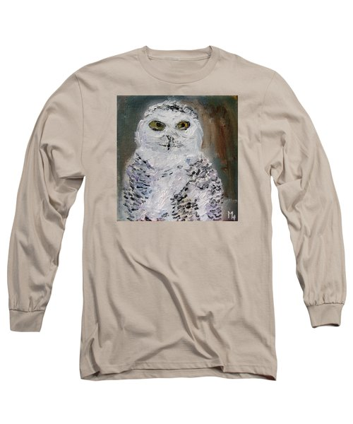 Snow Owl Long Sleeve T-Shirt by Michael Helfen