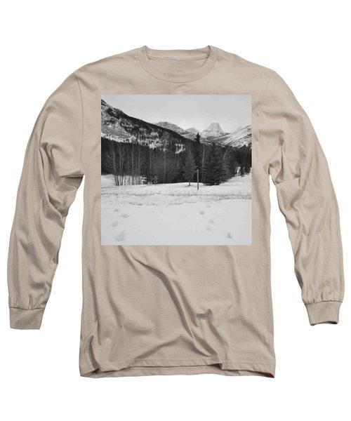 Snow Prints Long Sleeve T-Shirt