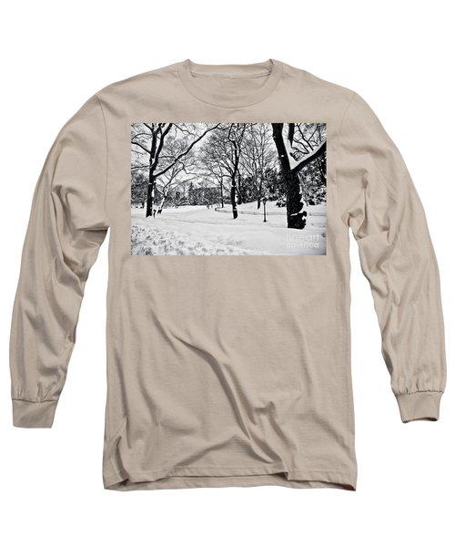 Snow Scene  Long Sleeve T-Shirt by Madeline Ellis