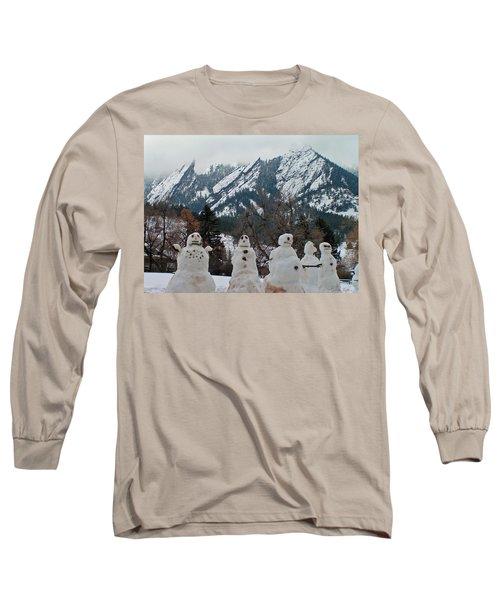 Flatiron Snowmen. Long Sleeve T-Shirt