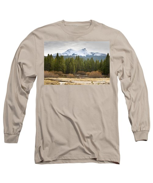 Snowy Fall In Yosemite Long Sleeve T-Shirt by David Millenheft
