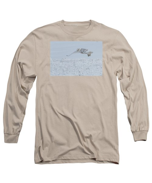 Snowy Owl #1/3 Long Sleeve T-Shirt by Patti Deters