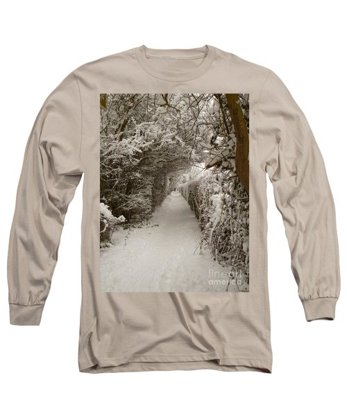 Snowy Path Long Sleeve T-Shirt by Vicki Spindler