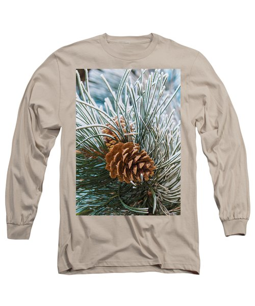 Snowy Pine Cones Long Sleeve T-Shirt