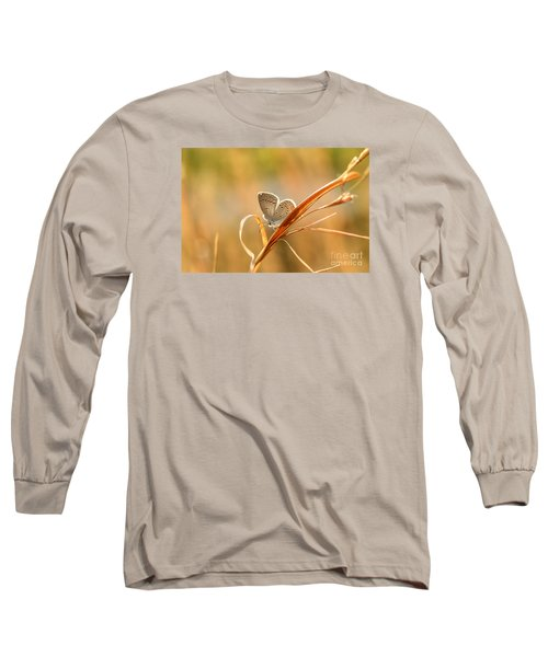 Soft Baby Blue Long Sleeve T-Shirt by Debbie Green
