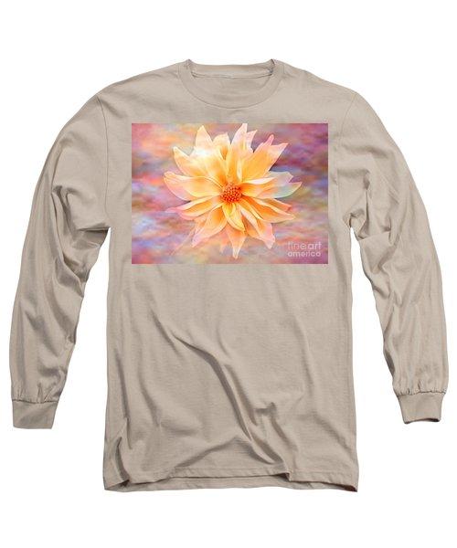 Long Sleeve T-Shirt featuring the photograph Soft Delightful Dahlia by Judy Palkimas