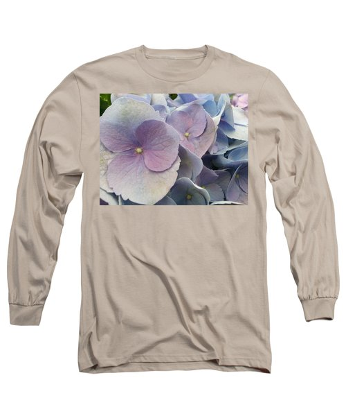 Long Sleeve T-Shirt featuring the photograph Soft Hydrangea  by Caryl J Bohn